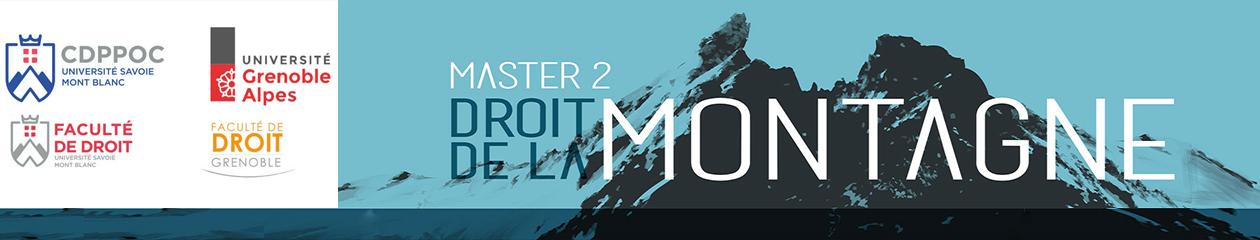 Site du Master 2 Droit de la Montagne