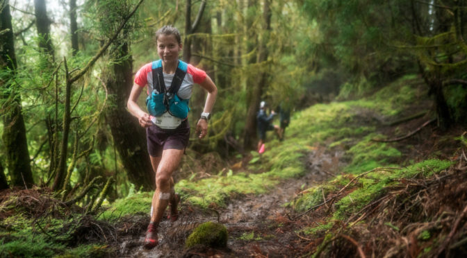 Candice Fertin, étudiante du Master Droit de la montagne aux Goldens Trails World Series !