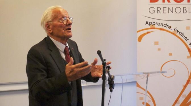 Pierre Mazeaud, président d'honneur du Master